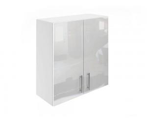Горен шкаф за кухни с две врати МДФ Елит М20 Бяло гланц 70 см.