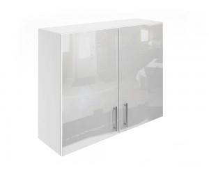 Горен шкаф за кухни с две врати МДФ Елит М20 Бяло гланц 90 см.