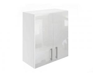 Горен кухненски шкаф за вграден аспиратор МДФ Елит М28 Бяло гланц 60 см.
