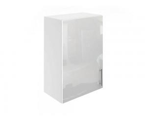 Горен шкаф за кухни с една врата МДФ Елит М16 Бяло гланц 50 см.