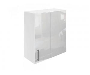 Горен ъглов шкаф за кухни МДФ Елит М27 Бяло гланц 65 см.