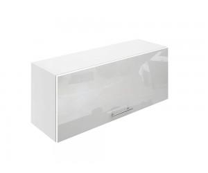 Горен шкаф за кухни с клапваща врата МДФ Елит М26 Бяло гланц 90 см.
