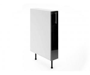 Долен шкаф за кухни - бутилиера МДФ Елит М10 Черно гланц 15 см.