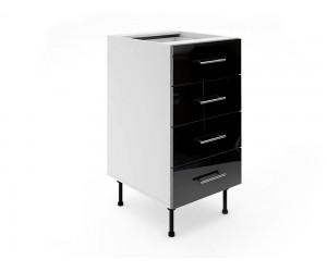 Долен шкаф за кухни МДФ Елит М5 Черно гланц 45 см.