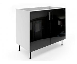 Долен шкаф за кухни МДФ Елит М6 Черно гланц 100 см.