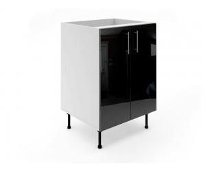 Долен шкаф за кухни МДФ Елит М6 Черно гланц 60 см.