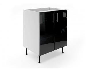 Долен шкаф за кухни МДФ Елит М6 Черно гланц 70 см.