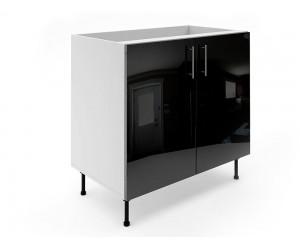 Долен шкаф за кухни МДФ Елит М6 Черно гланц 90 см.
