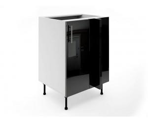 Долен ъглов шкаф за кухни МДФ Елит М8 Черно гланц 60 см.