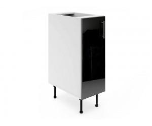 Долен шкаф за кухни МДФ Елит М1 Черно гланц от 30 до 40 см.