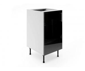Долен шкаф за кухни МДФ Елит М2 Черно гланц 45 см.