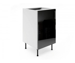 Долен шкаф за кухни МДФ Елит М2 Черно гланц 50 см.