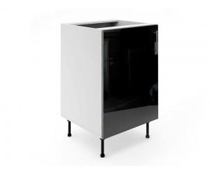 Долен шкаф за кухни МДФ Елит М2 Черно гланц 55 см.