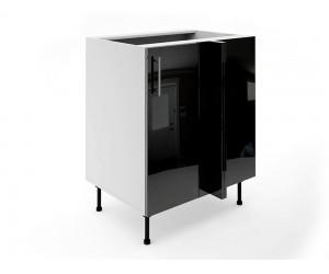 Долен ъглов шкаф за кухни МДФ Елит М8 Черно гланц 70 см.