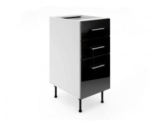 Долен шкаф за кухни МДФ Елит М4 Черно гланц 40 см.