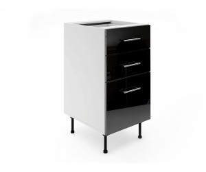 Долен шкаф за кухни МДФ Елит М4 Черно гланц 45 см.