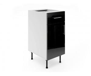 Долен шкаф за кухни МДФ Елит М3 Черно гланц 40 см.