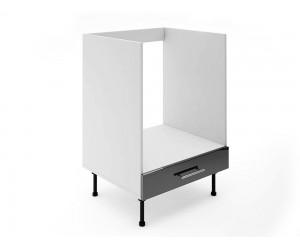 Долен кухненски шкаф за вградена фурна МДФ Елит М9 Черно гланц 60 см.