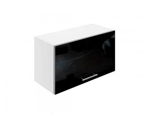 Горен шкаф за кухни с клапваща врата МДФ Елит М26 Черно гланц 65 см.