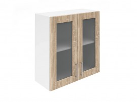 Горен шкаф за кухни с две витринни врати Хит М21  Дъб сонома 70 см.
