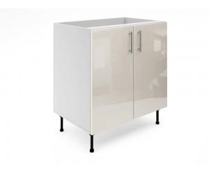 Долен шкаф за кухни МДФ Елит М6 Крем гланц 80 см.