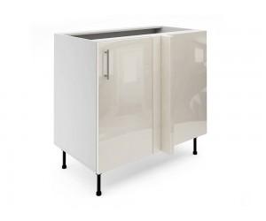Долен ъглов шкаф за кухни МДФ Елит М7 Крем гланц 100 см.