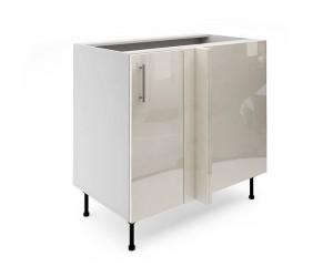 Долен ъглов шкаф за кухни МДФ Елит М7 Крем гланц 90 см.