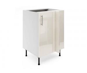 Долен ъглов шкаф за кухни МДФ Елит М8 Крем гланц 60 см.