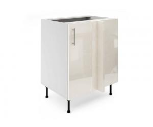 Долен ъглов шкаф за кухни МДФ Елит М8 Крем гланц 70 см.