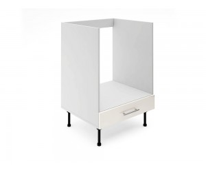 Долен кухненски шкаф за вградена фурна МДФ Елит М9 Крем гланц 60 см.