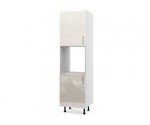 Колонен кухненски шкаф за вграждане на фурна МДФ Елит М12 Крем гланц 60 см.