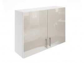 Горен шкаф за кухни с две врати МДФ Елит М20 Крем гланц 100 см.