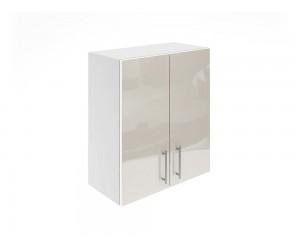 Горен шкаф за кухни с две врати МДФ Елит М20 Крем гланц 60 см.