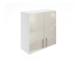 Горен шкаф за кухни с две врати МДФ Елит М20 Крем гланц 70 см.