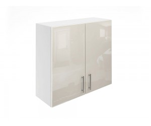 Горен шкаф за кухни с две врати МДФ Елит М20 Крем гланц 80 см.