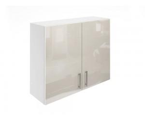 Горен шкаф за кухни с две врати МДФ Елит М20 Крем гланц 90 см.