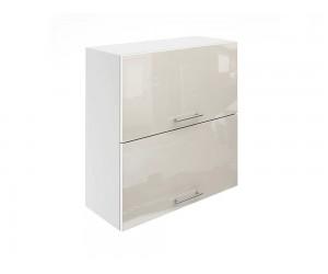 Горен шкаф за кухни с хоризонтални клапващи врати МДФ Елит М25 Крем гланц 70 см.