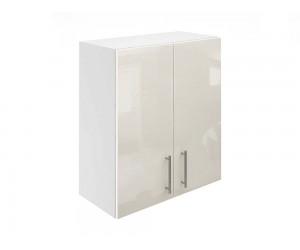 Горен кухненски шкаф за вграден аспиратор МДФ Елит М28 Крем гланц 60 см.