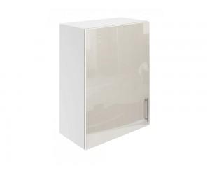 Горен шкаф за кухни с една врата МДФ Елит М16 Крем гланц 55 см.
