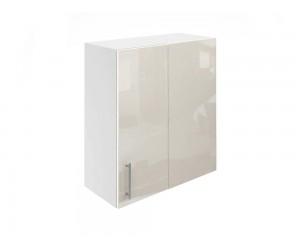 Горен ъглов шкаф за кухни МДФ Елит М27 Крем гланц 65 см.