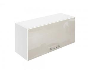 Горен шкаф за кухни с клапваща врата МДФ Елит М26 Крем гланц 80 см.