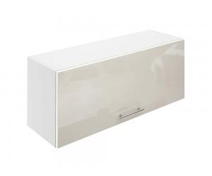 Горен шкаф за кухни с клапваща врата МДФ Елит М26 Крем гланц 90 см.