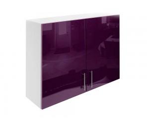 Горен шкаф за кухни с две врати МДФ Елит М20 Патладжан гланц 100 см.