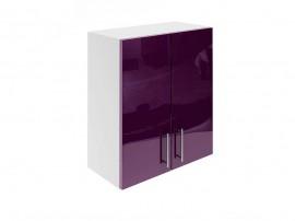 Горен шкаф за кухни с две врати МДФ Елит М20 Патладжан гланц 60 см.
