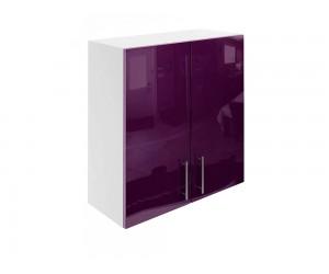 Горен шкаф за кухни с две врати МДФ Елит М20 Патладжан гланц 70 см.