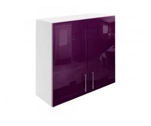 Горен шкаф за кухни с две врати МДФ Елит М20 Патладжан гланц 80 см.