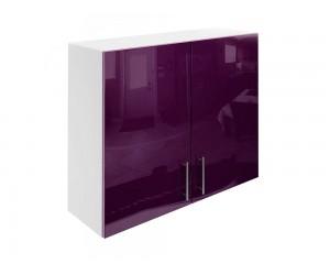 Горен шкаф за кухни с две врати МДФ Елит М20 Патладжан гланц 90 см.