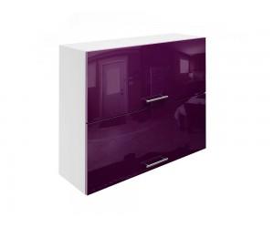 Горен шкаф за кухни с хоризонтални клапващи врати МДФ Елит М25 Патладжан гланц 90 см.