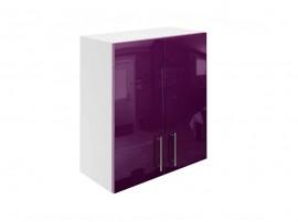 Горен кухненски шкаф за вграден аспиратор МДФ Елит М28 Патладжан гланц 60 см.