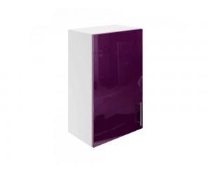 Горен шкаф за кухни с една врата МДФ Елит М16 Патладжан гланц 45 см.